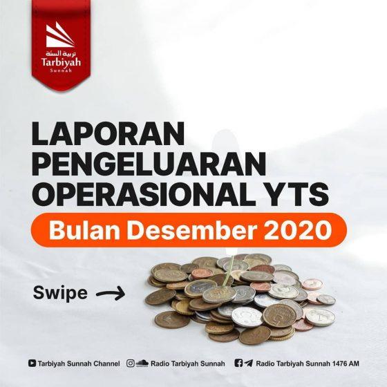 Laporan Pengeluaran Operasional YTS Bulan Desember 2020