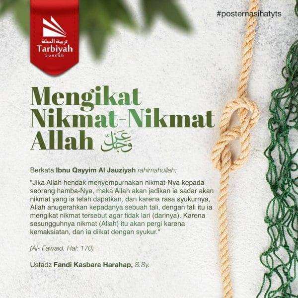 Mengikat Nikmat-Nikmat Allah Azza wa Jalla – Poster Nasihat