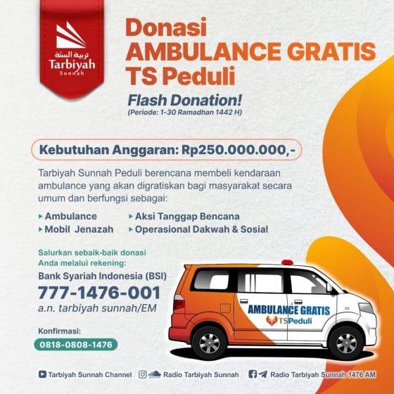 Donasi Ambulance Gratis TS Peduli