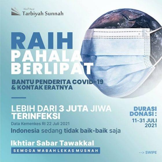 RAIH PAHALA BERLIPAT BANTU PENDERITA COVID-19 & KONTAK ERATNYA (Durasi Donasi : 11-13 Juli 2021)